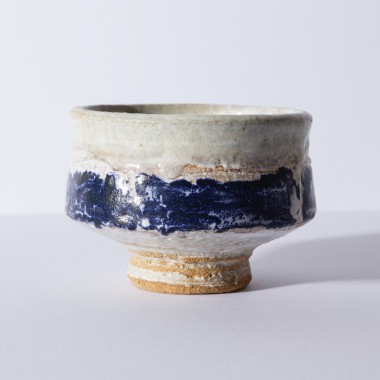 Robin Welch - Footed chawan with blue