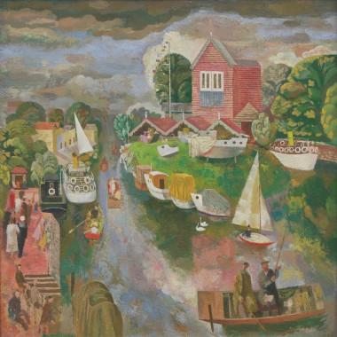 Reginald Brill - The Thames at Surbiton