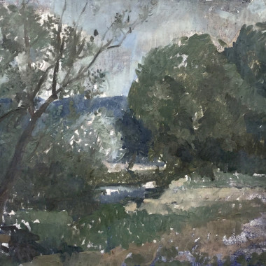 Peter Greenham - Landscape near Vezelay, 1983