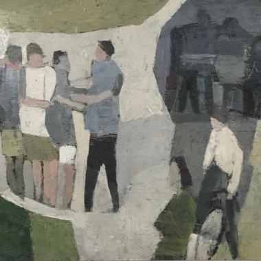 Ewart Johns - Street Youths, c 1956