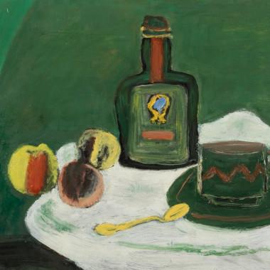 Henri Hayden - Nature morte verte (Green Still life), 1956