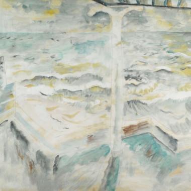 David Jones - Balcony and Seascape, 1929