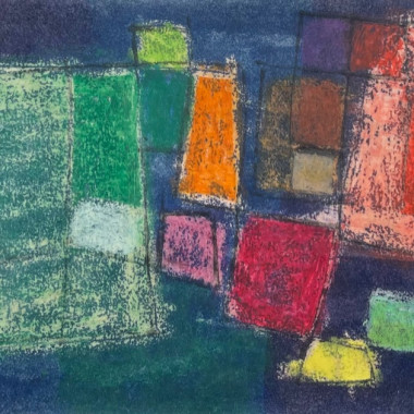 John Wells - Composition with Squares, 1964