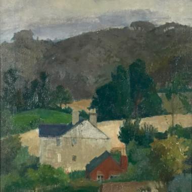 Patrick George - Sheepscombe Landscape, c 1947-8
