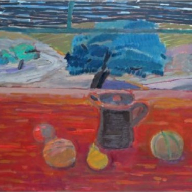 Clive Blackmore - Still Life with Cherry Trees, Provence