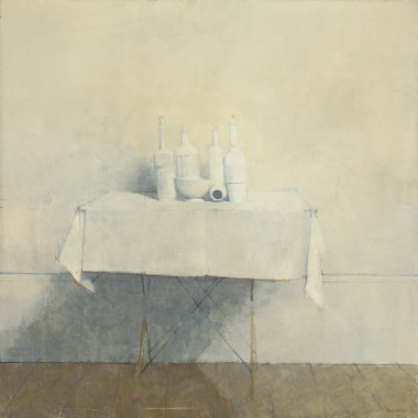 William Brooker - White Still life, 1965
