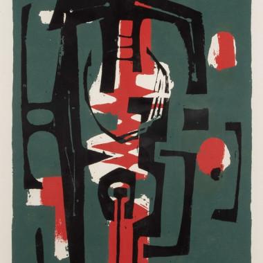 Frank Avray Wilson - Untitled (Green, Red, Black), 1956