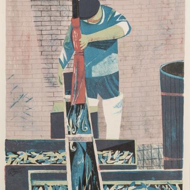 Richard Swaby Platt - Washing Fish, c 1954