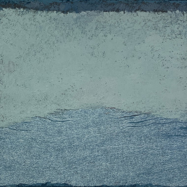 Pamela Burns - Wave, Green on Blue, 2017