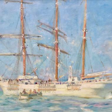 Henry Scott Tuke - The White Barque, 1901