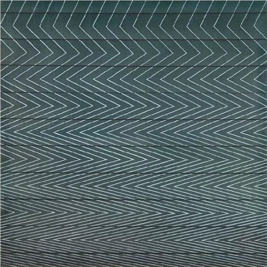 Richard Allen - Parallel Black Lines, Moire Painting (ENM 1), 1967