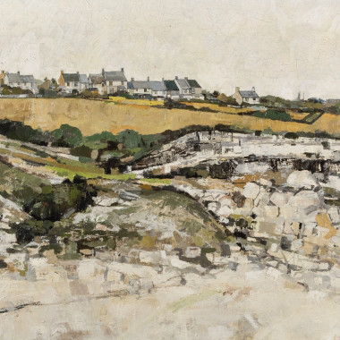 Robert Micklewright - Landscape with Houses, 1950s circa