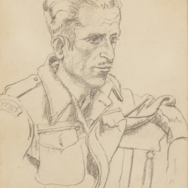 Allan Gwynne-Jones - Study for a Portrait of Antonio Cavaliere, c 1944