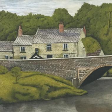 James Lloyd - Cottage by a Bridge, c 1960s
