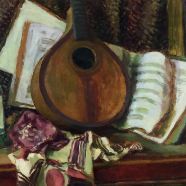 Duncan Grant - Still life with Mandolin, c 1950s