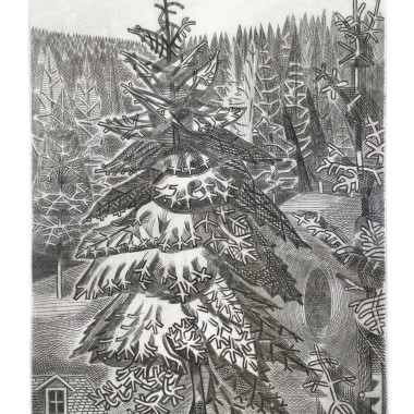 Edward Bawden - Cabin in the Forest, 1953