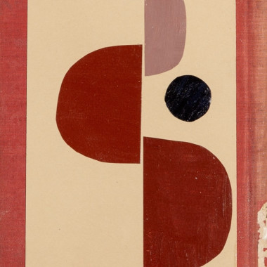 Daisy Cook - Book Cover Collage III (Red), 2021