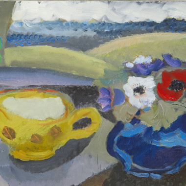 Clive Blackmore - Yellow Cup and Anemones