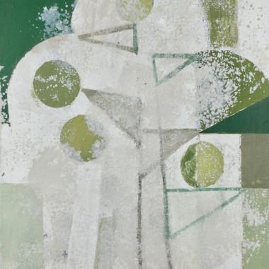 Daisy Cook - Tree Shape with Greens I, 2019