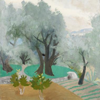Winifred Nicholson - Spring Landscape (Castagnola Terrace), c 1922/30s