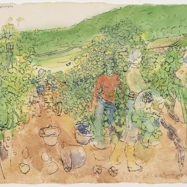 Anthony Gross - Monsieur Labruyere's Vineyard, 1977