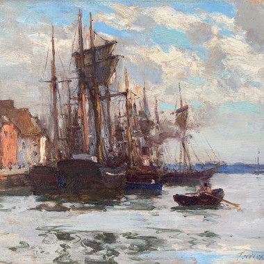 Terrick Williams - A Bright Morning, Poole Harbour, 1896