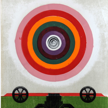 Michael Rothenstein - Circle (Pink to Purple with Free Wheels) (Sidey 181), 1968-69