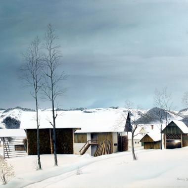 Sedey Janez - Winter Landscape, 1974