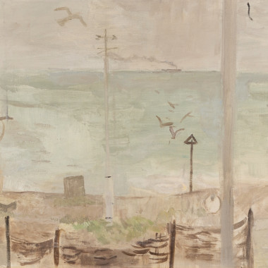 Mary Potter - View from the Studio, March (Aldeburgh Beach), 1958