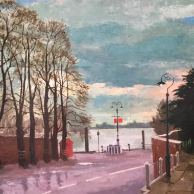 Robin Darwin - The Thames at Hammersmith