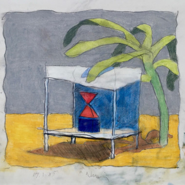 Victor Willing - Untitled (Place with a Green Thing), 1985