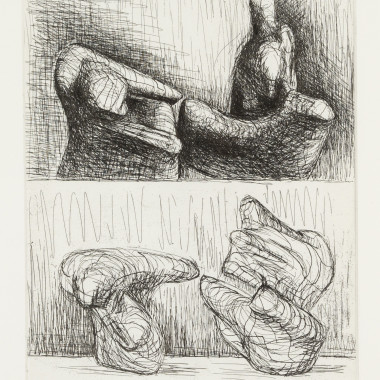 Henry Moore - Two Piece Reclining Figures, Points, 1969