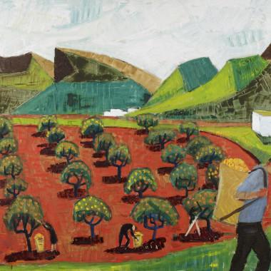 Stig Kjellin - Orchard Landscape, 1960s circa