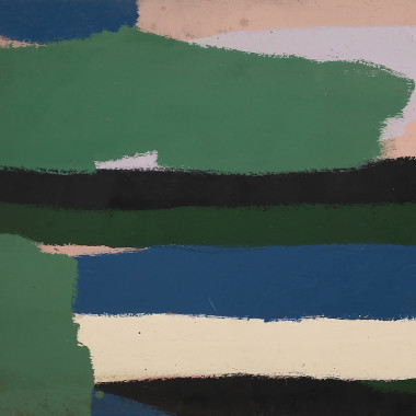 Barry Daniels - Untitled #2 (Green and Black Stripes)