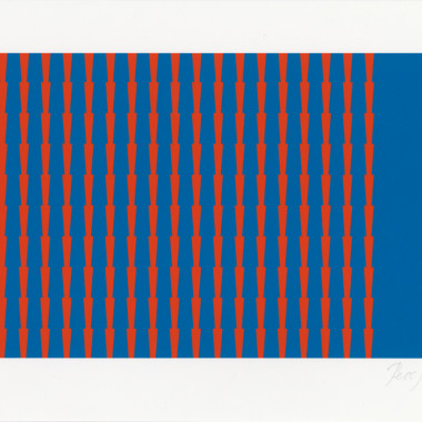 Tess Jaray - Towards Thorns I, 2014