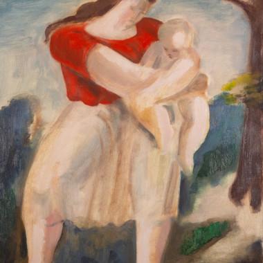 Bernard Meninsky - Mother and Child, circa 1940