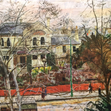 Carel Weight - Putney Road, Winter, c 1950s