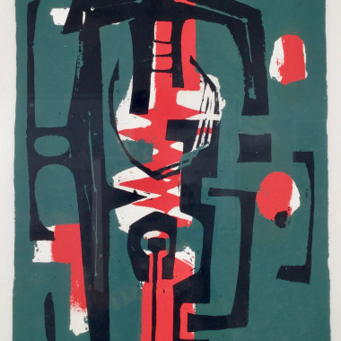 Frank Avray Wilson - Untitled (Green, Red, Black), 1956