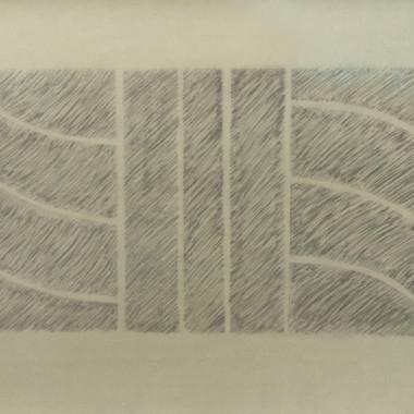 Kim Lim - Relief (Grey on Beige), 1993