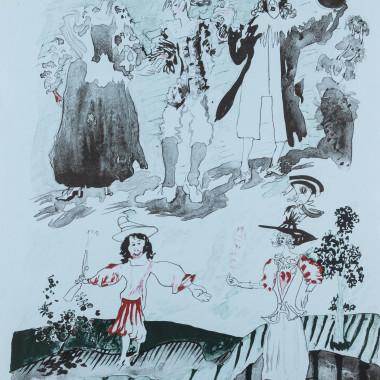 Patrick Procktor - Northern Lass, from Europaeische Graphik VII, 1971