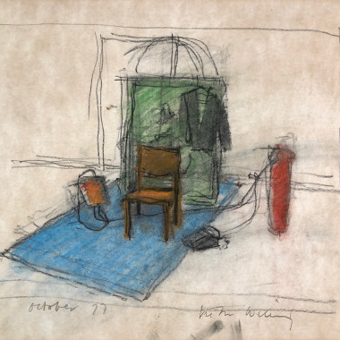 Victor Willing - Untitled (Place with Orange Chair), 1977