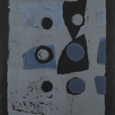 Clifford Ellis - Variations on Six (Blue on Black), 1953