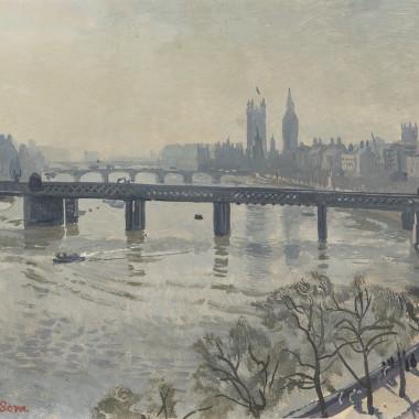 Stephen Bone - Westminster, 1940s circa