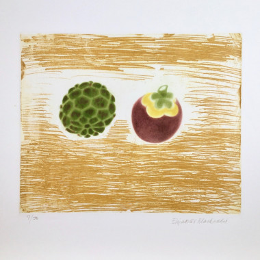 Elizabeth Blackadder - Exotic Fruits (Cherimoya and Mangosteen), 1989