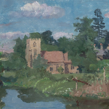 Allan Gwynne-Jones - From the Banks of Fairfax Hall by Waters Edge, 1932