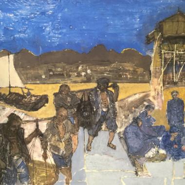 Denis Mathews - River Scene, Hong Kong, c 1954-5