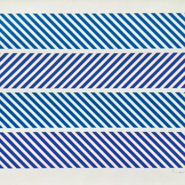 Bridget Riley - Untitled, from 'Rothko Memorial Portfolio' (Schubert 19), 1973