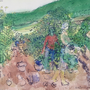 Antony Gross - Monsieur Labruyere's Vineyard, 1977