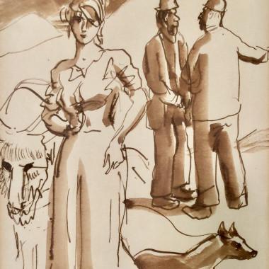 Augustus John - Connomora Sketch