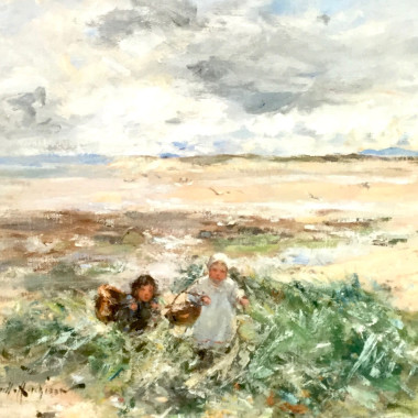 Robert Gemmell Hutchison - Children in the Dunes, c 1910s